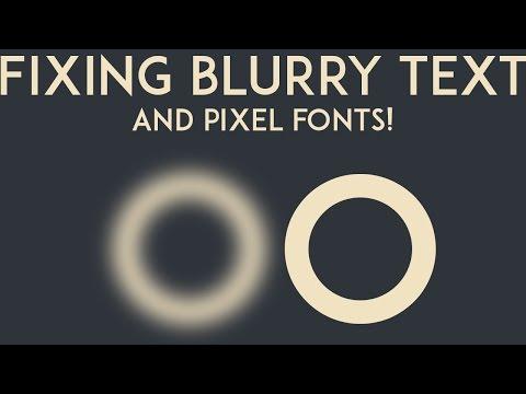Unity3D Quick Tips: Crispy Pixel Text & Blurred Text Fix