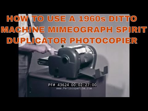 HOW TO USE A 1960s DITTO MACHINE   MIMEOGRAPH  SPIRIT DUPLICATOR  PHOTOCOPIER 43624