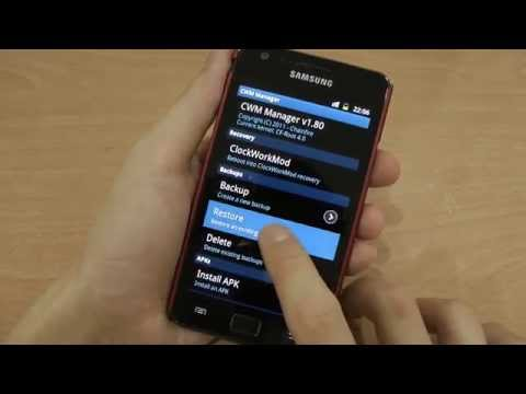 How to restore Samsung Galaxy S2 with ClockworkMod Recovery?