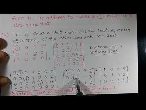 Echelon form of a matrix