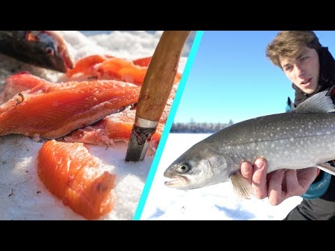 BEST Fish I've Ever Tasted -- Arctic Catch and Cook (On The Ice)