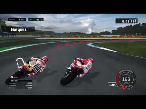 MotoGP17 Motegi battle Dovizioso Marquez