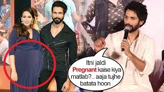 Shahid Kapoor TROLLS Reporter Making FUN Of Wife Mira Rajput Being PREGNANT Again