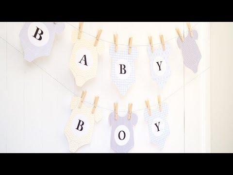 👶 DIY Baby Shower Bunting - Onesie Bunting
