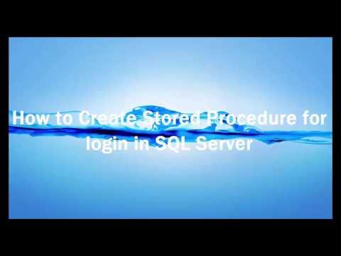 Login stored procedure in sql server Part-1