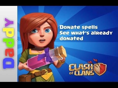 Clash Of Clans  | awesome DONATE SPELLS update sneak peek