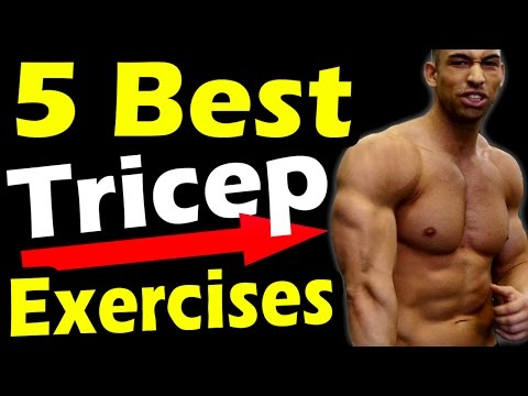 Best Tricep Workout with Dumbbells ➟ Top 5 at Home Triceps Dumbbell Exercises for Big Mass Women Men
