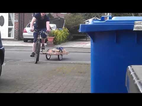 wooden bike trailer