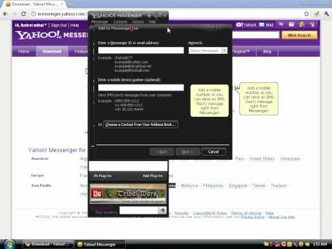 How to create a Yahoo Messenger Account
