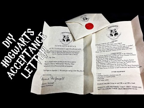 DIY Hogwarts Acceptance Letter | Harry Potter