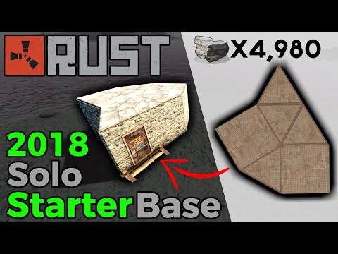 RUST | Best Solo Starter Base | Building 3.0 [2018]