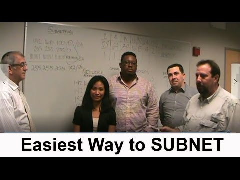 Easiest Way to SUBNET tutorial by CISCO Students (based on given number of hosts and networks)