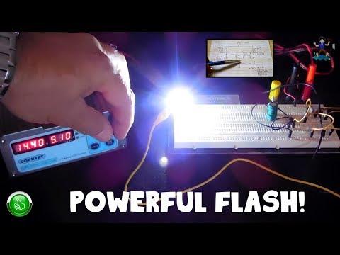 World's Simplest LED Flasher / Strobe Circuit (9.5V -14V)