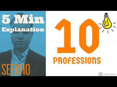 Top 10 professions in Pakistan (Urdu/Hindi)