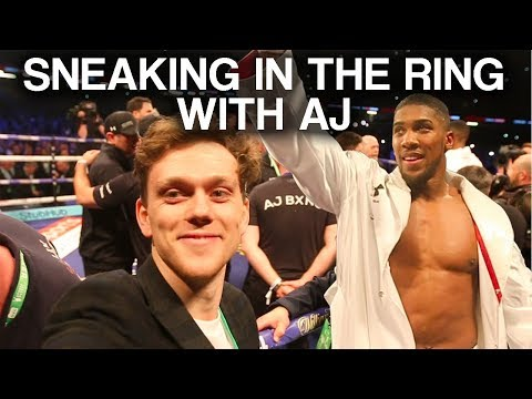 SNEAKING INTO THE RING AT ANTHONY JOSHUA VS JOSEPH PARKER BOXING MATCH