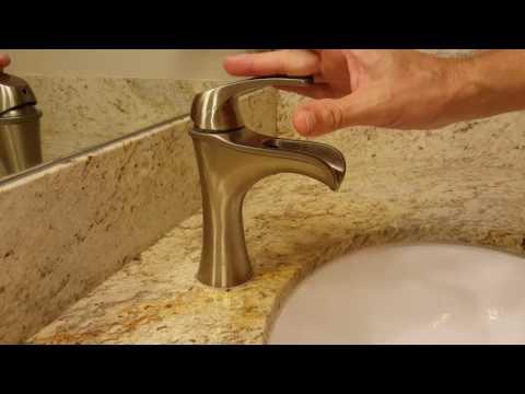 Water Flow with Pfister F042JDKK Jaida Single Control 4