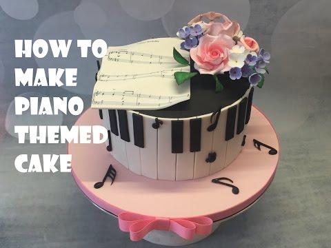 Piano Themed Cake tutorial