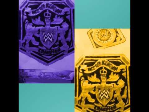 *DIY* HOMEMADE WWE UNITED KINGDOM CHAMPION BELT