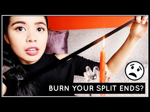 BURN YOUR SPLIT ENDS For Healthy Hair & Faster Hair Growth? Candle Cutting Hair Treatment