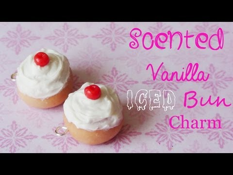 Vanilla Scented Iced Buns Charm - Polymer Clay Tutorial! ❤