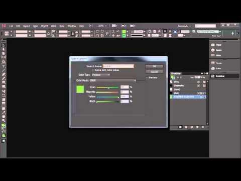 Creating CMYK & Pantone swatches - InDesign CC Tutorial [5/20]
