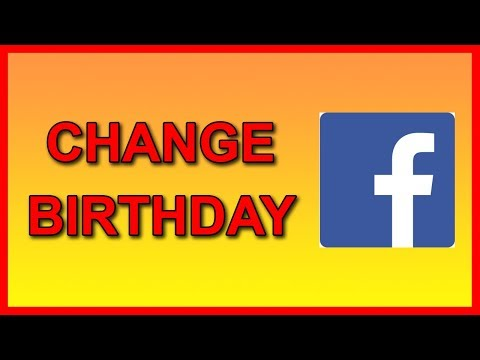 How to change your birthday on Facebook App (Android)