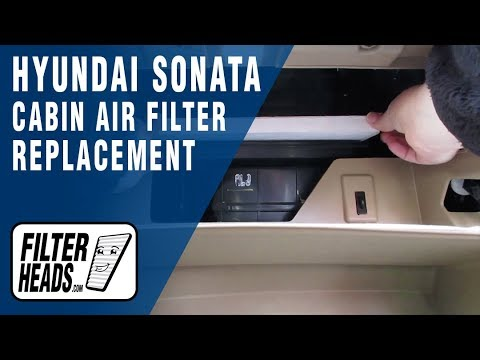 How to Replace Cabin Air Filter 2012 Hyundai Sonata