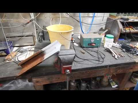 How to remove rust with a car battery charger