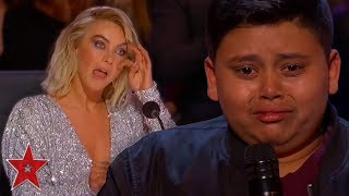 Kid Singer Gets GOLDEN BUZZER From His FAVOURITE Judge On America