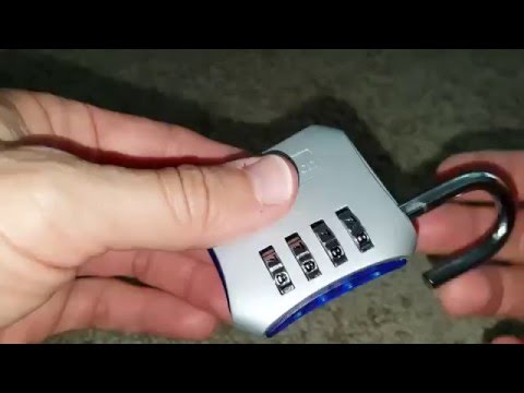 iGotTech Heavy Duty Gym Lock:  instructions how to set, lock and unlock the lock