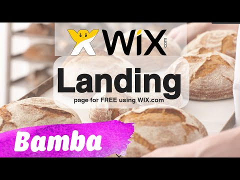 FREE  Stunning LANDING PAGE for your site using WIX
