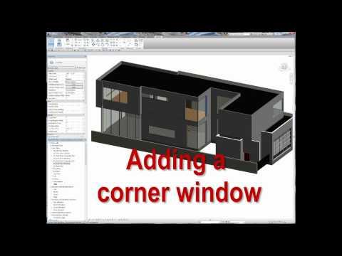 Adding a corner window in Revit Architecture
