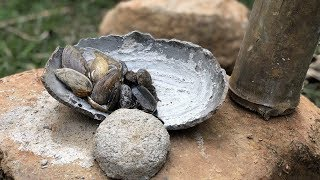 Primitive Technology: How to Burn Oyster Shells Into Lime