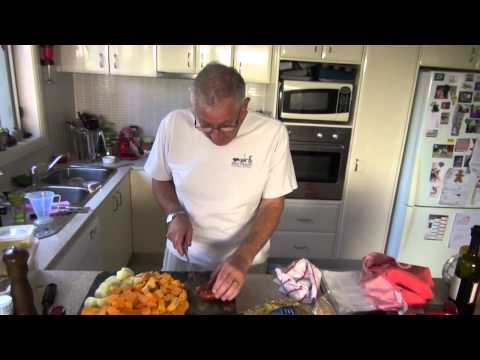 Pumpkin Soup With Home Made Pork Stock - Ep 01 - Daddy's Cooking