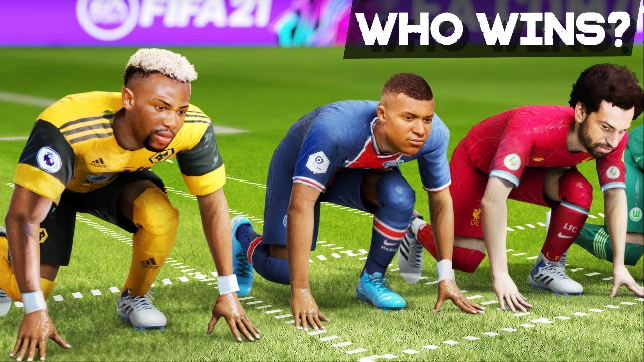 FIFA 21 PACE/SPEED TEST   Who is the fastest player in the game?