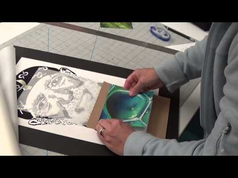 how to mount and flap a board, how to cut with crop marks
