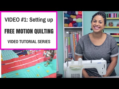 Free Motion Quilting Tutorial Series- Video #1: Setting up your sewing machine