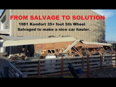 Make a 12k car hauler from a salvaged 5th Wheel RV, #1