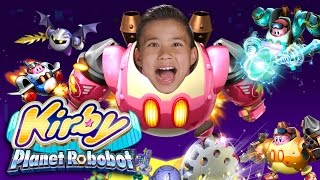 KIRBY PLANET ROBOBOT for the Nintendo 3DS! New amiibo Figures!