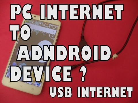 HOW TO SHARE PC INTERNET CONNECTION TO ANDROID DEVICE by USB CABLE | USB INTERNET | WINDOWS 10/7/8.1