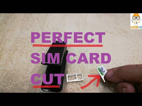 ▶️How TO Easily Cut (Punch OUT)  Your SIM card (Micro SIM, Nano SIM - iPhone X) PERFECT RESULTS