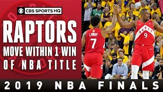 Toronto STUNS Golden State for commanding 3-1 lead | NBA Finals | CBS Sports HQ