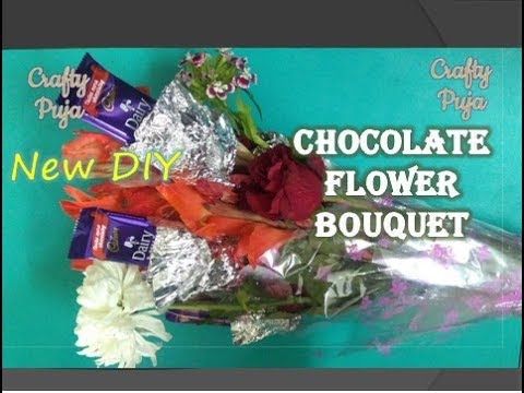 DIY How to make Chocolate Flower Bouquet | CraftyPuja | #36