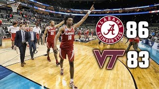 Alabama gets past Virginia Tech in opening round of NCAA Tournament