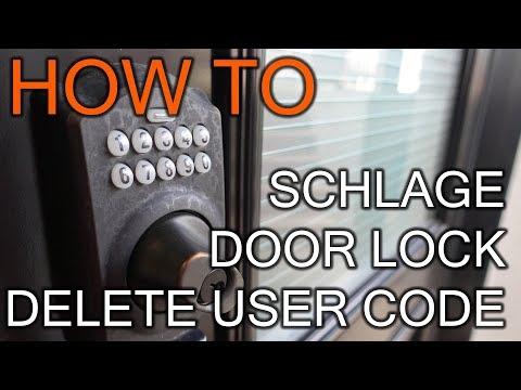 How to Delete User Code on Schlage Door Lock