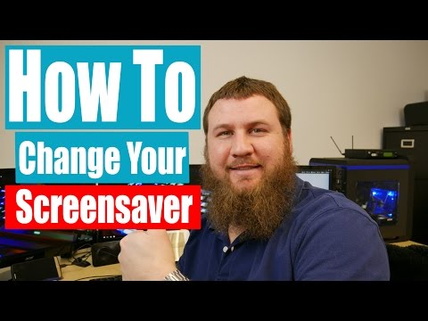 How to change your screensaver on windows XP and up