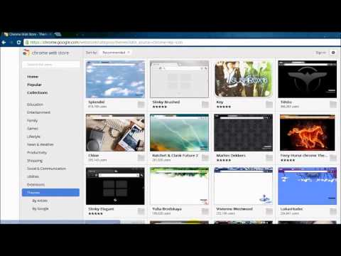 How to change background theme of Google Chrome