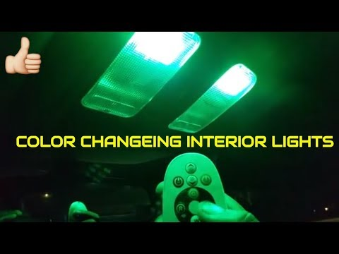 CAR LED FESTOON INTERIOR COLOR CHANGING LIGHTS WITH REMOTE