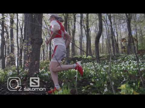Trail Running on warm spring day