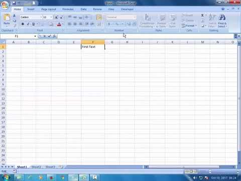 How to enter multiple lines in a single cell in Microsoft Excel